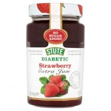 Stute Foods - Diabetic Range - Strawberry Jam - 430g (Case of - Jam Strawberry Diabetic