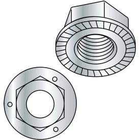 3/8-16 Serrated Flange Hex Lock Nuts Grade 5 Zinc, Pkg of 1000