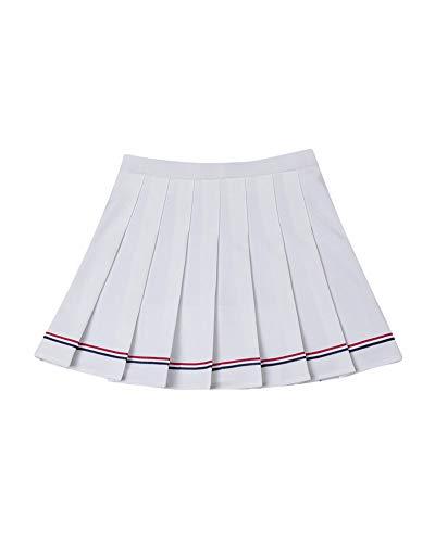 Alta Liangzhu Plissettata Donna Gonna Vita Bianco Elastica Tennis Minigonne Scolastiche Vita Sottile Uniforme wPBZaP