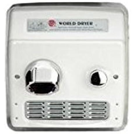 World Dryer Ra5 Q974 Hand Dryer Recessed 115v 20 Amp ADA Handicap Compliant Commercial Restroom
