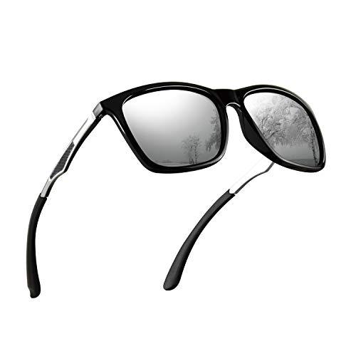 Polarized Sunglasses for Men Aluminum Mens Sunglasses Driving Rectangular Sun Glasses For Men/Women (Spring Glasses Polarized)