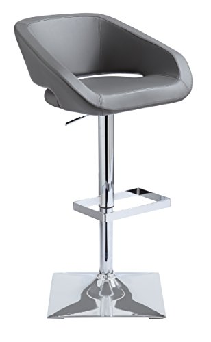 Sunpan Modern Gustavo Adjustable Barstool, Graphite For Sale