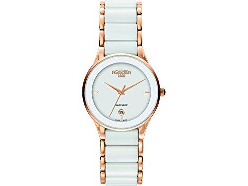 Roamer 677981-49-25-60 Ladies Ceraline Saphira White Ceramic Watch