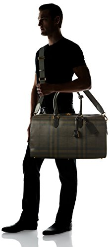 Burberry Boston 52, Borsa a mano uomo Marrone Chocolate / Negro