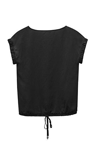 next Mujer Camiseta Cruzada En Frente Manga Corta Bolsillo En El Pecho Crudo