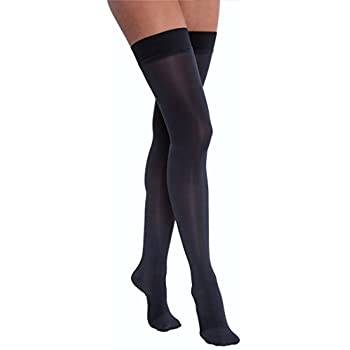 Image of BSN Medical 115749 Compression Hose, Thigh High, Closed Toe, 20-30 mm HG, Medium, Midnight Navy