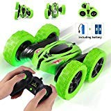 SIMILKY Remote Control Car, 4WD RC Stunt Car Rotate 360 Double Sided Race RC Car Maketheone Electric Stunt Rock Crawler Unstoppable RTR Buggy High Speed Rc Trucks (Green) ()