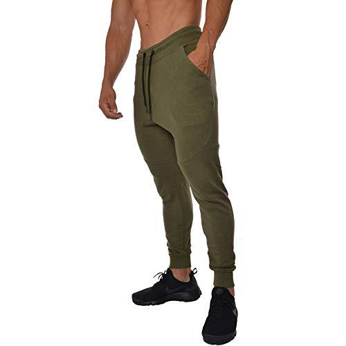 Abbigliamento Ioaad Pantaloni Army Fitness Esercizio Sportivi Sportivo Jogging Uomo Da Casual Collant Green 60dxr6F