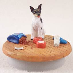Rat Terrier Candle Topper Tiny One ''A Day at Home''