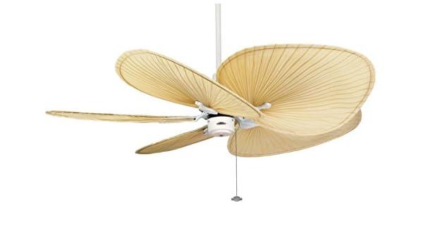 CASA BRUNO ventilador de techo Islander, blanco, con aspas de hoja ...