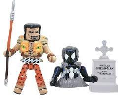 (Minimates Marvel Series 77 Black Costume Spider-Man & Kraven The Hunter 2-Pack)
