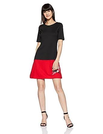 global desi Women's Rayon Shift Dress