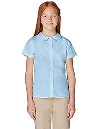 Girls' Short Sleeve Peter Pan Collar Blouse