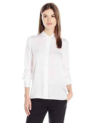 Vince Women's Slim Fitted Blouse, White, M