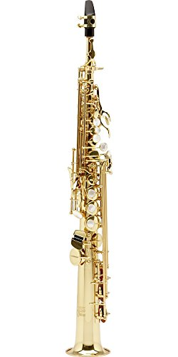 Allora Vienna Series Intermediate Straight Soprano Saxophone with Two Necks AASS-502 - Lacquer ()