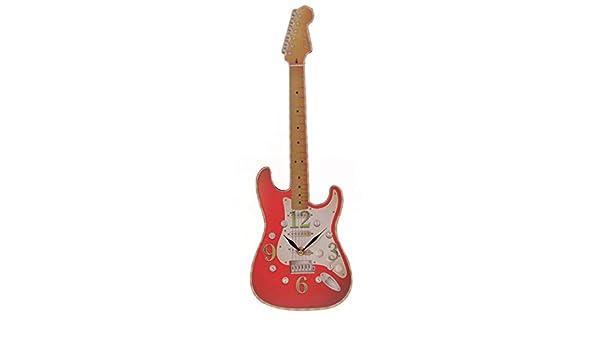 Mzdpp Rock N Roll Guitarra Eléctrica Reloj De Pared Guitarist Room ...