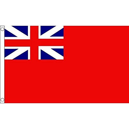 AZ FLAG Naval Ensign Red Squadron Flag 3' x 5' - Bristish Historic Flags 90 x 150 cm - Banner 3x5 ft
