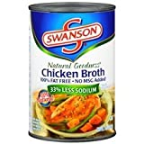 6 Pack Swanson Natural Goodness Chicken Broth 14.5 oz Cans by Swanson