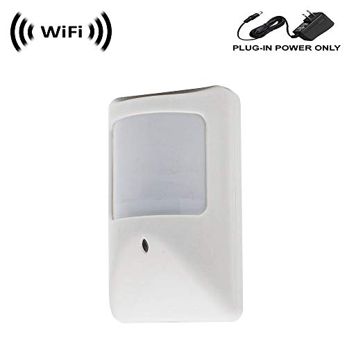 WF-450A 1080p IMX323 Sony Chip Super Low Light Spy Camera with WiFi Digital IP Signal, Recording & Remote Internet Access, Camera Hidden in a Compact PIR Motion Detector Housing (Best Low Light Hidden Camera)