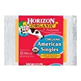 Horizon Organic American Single Cheese, 8 Ounce -- 12 per case.