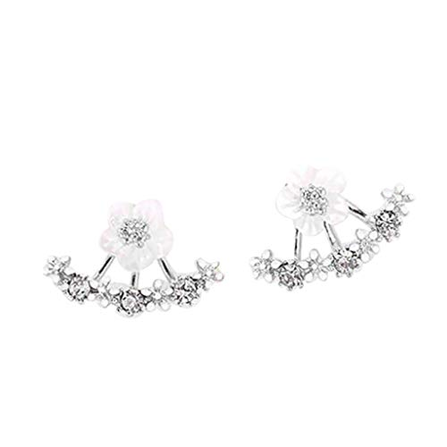 - Earrings 1Pair Women Fashion Flower Crystal Ear Stud Earrings Earring Jewelry Gift