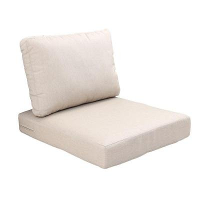Hampton Bay Fast Drying Polyester Beverly Beige Replacement 2-Piece Outdoor Sectional Polyfiber-fill Chair Cushion (Hampton Bay Cushions)