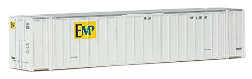 Walthers HO Scale 48' Ribbed-Side Shipping Container EMP (White/Yellow/Blue) ()