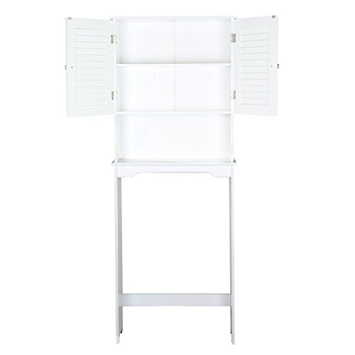 Joveco Over the Toilet Storage Space-saver Cabinet, Shelves. White Finish by Joveco
