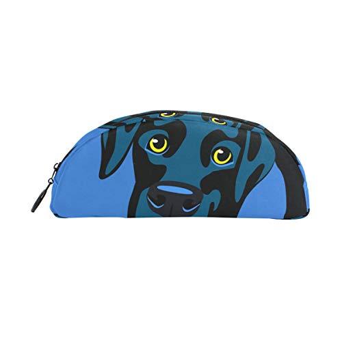 (Pencil Case Holders Dog Black Labrador Retriever Pen Stationery Pouch Bag with Zipper Makeup for Kids Girls Boys)