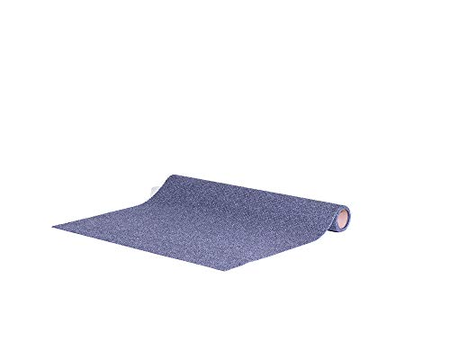 Home Gym Mat by New Pig – Adhesive-Backed in Gray Berber – for Exercise Equipment – 3′ x 5′
