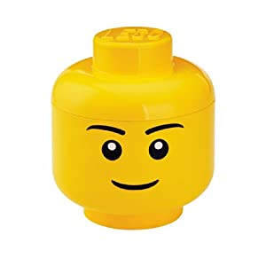 LEGO Storage Head Small, Boy,Yellow