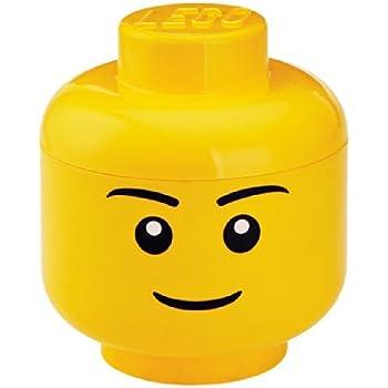 LEGO Storage Head Small, Boy,Yellow