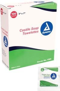 Alimed Castile Soap Towelette, Saturated with 2% Castile Soap (Case of 1000) ()
