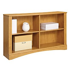 Realspace(R) Dawson 2-Shelf Sofa Bookcase, Canyon Maple - Mdf Maple Bookcase