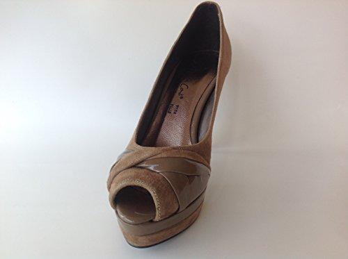 Andrea Conti - Zapatos de vestir de Piel para mujer Marrón pardo 38
