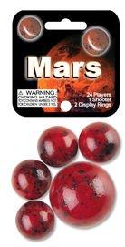 Mega Marbles - MARS MARBLES NET (1 Shooter Marble & 24 Player Marbles) B00K56NGFU