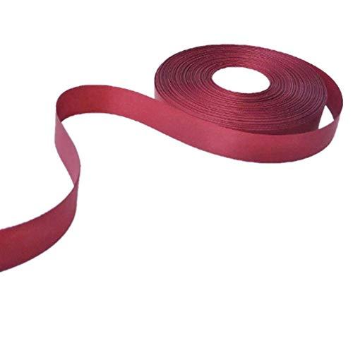 Satin Ribbon Burgundy Roll 80 Yard 3/4