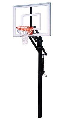 最初チームJam II steel-acrylic in ground調整可能バスケットボールsystem44、スカーレット B01HC0D8P4