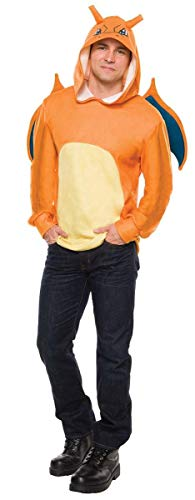 Rubie's Men's Pokemon Charizard Hoodie, Multi, Standard ()