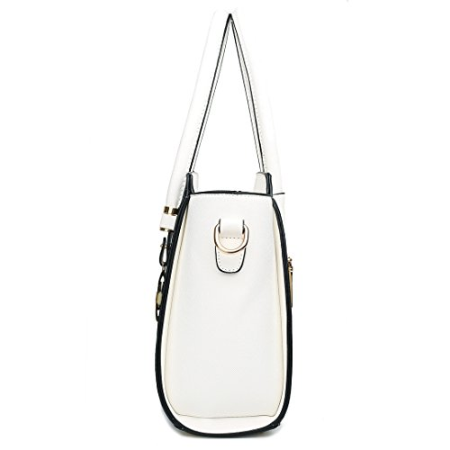 1625 Satchel Miss Handbag Winged Leather Bag Women White Lulu Small Black Shoulder Faux FvwqOC