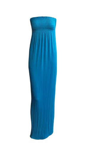 Maxi Fashion Sheering Tube Dress Plain Teal Women's Boob Ditzy WYqgOdTwT