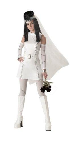 Frankies Bride Costumes (CaliforniaCostumes Frankie's Girl Monster Bride White Teen 3-5 NIP Dress Costume)