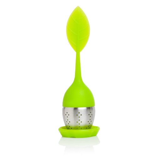 Bruntmor - Tasty Leaf Tea Infuser with Drip Tray, Silicone,