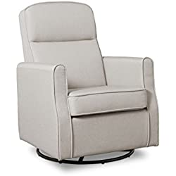 Delta Children Blair Nursery Glider Swivel Rocker Chair, Taupe