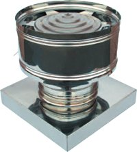 Comignoli Per Canne Fumarie Terminale Antivento a Botte Inox aisi 304 Base Quadrata, Tutte le misure (270x270) Piemme Industry