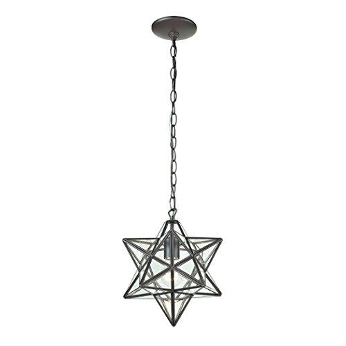 Star Pendant Light Fixture Glass in US - 3