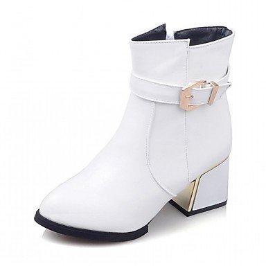 Pu Zapatos Confort RTRY Hebilla Botines UK4 Redonda Piel Mujer Sintética Chunky Moda Novedad Puntera De Parte US6 amp;Amp; CN36 Botas Botas Botines Invierno Talón De EU36 Otoño pYqwYdP