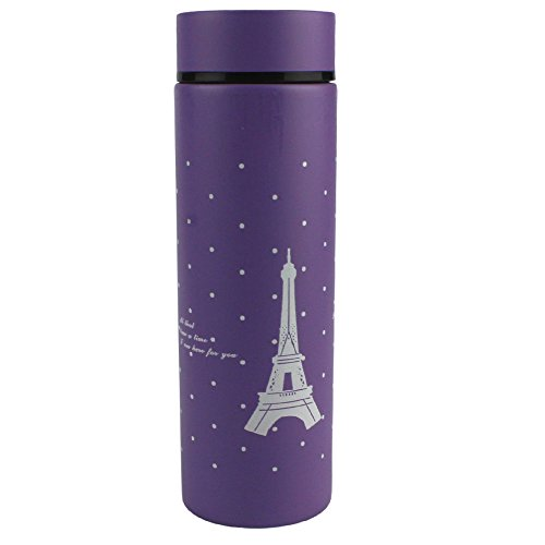 Eiffel Tower Coffee Cup Insulated Mug Stainless Steel Vacuum Flask Water Tea Kids Baby Bottle Warmer - Summit 280 The