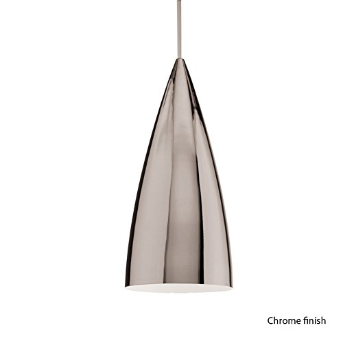 WAC Lighting MP-966-CH/CH Bullet 1 Light Canopy Pendant, Halogen/Xenon, Chrome