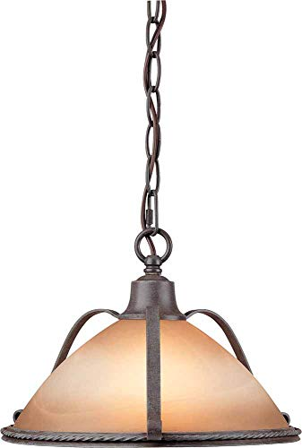 Volume Lighting V2640-53 Altamonte 1 Light Frontier Iron Pendant ()